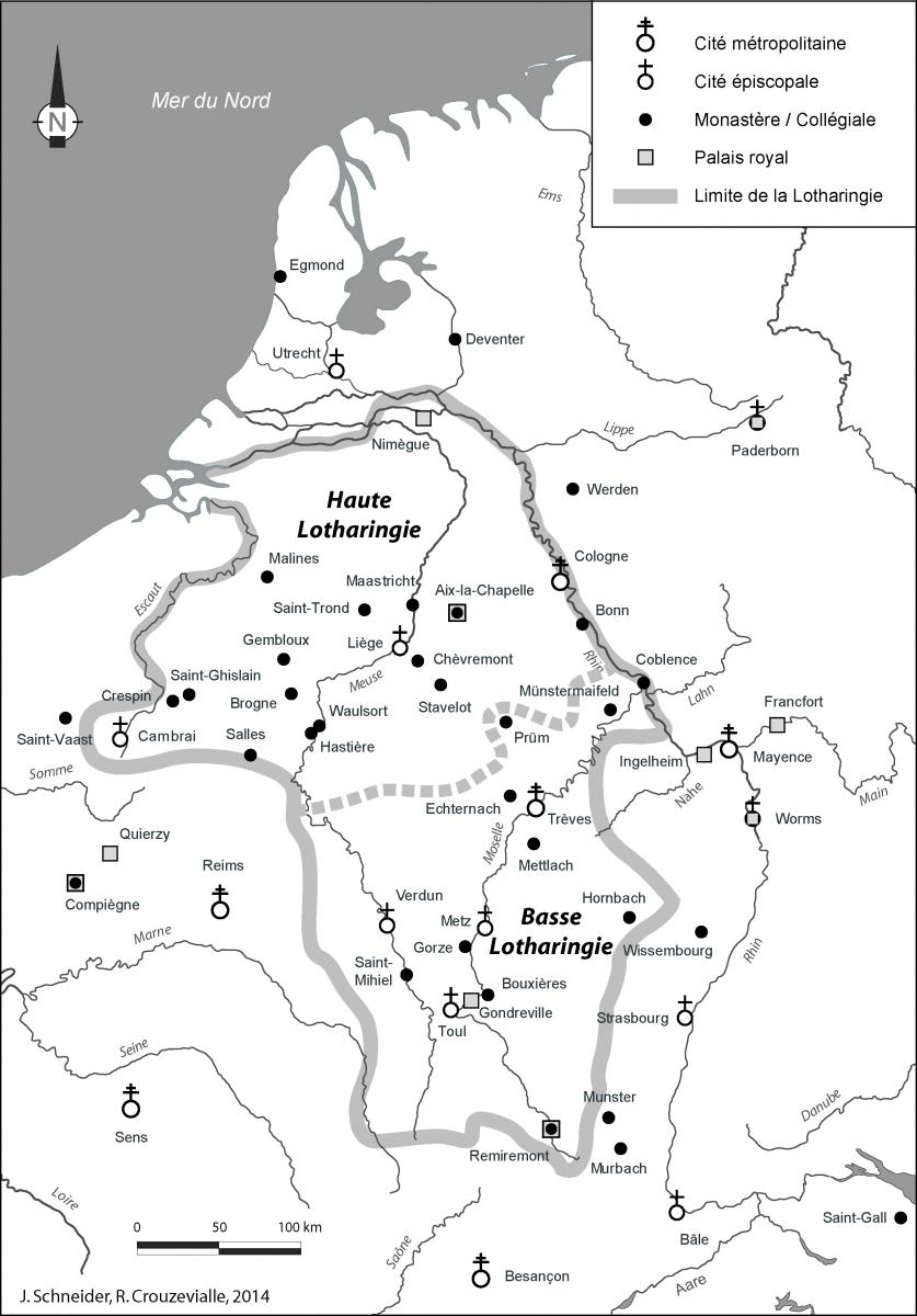 Carte 4 Les Duchs Lotharingiens Au XIe Sicle